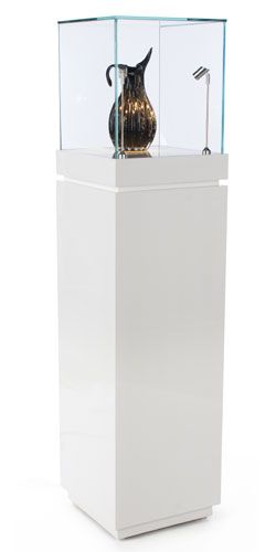 art museum antique glass display cabinet and wall display designs (17)