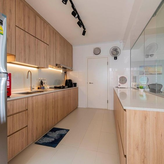 Customized Modern Concise Kitchen Cabinets Singapore (11)