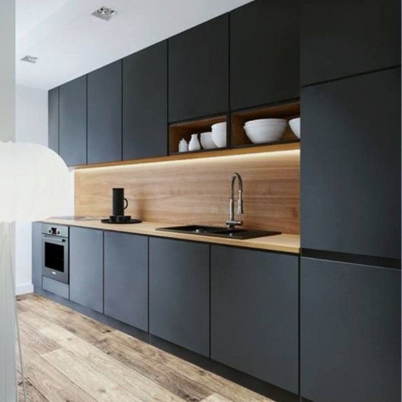 Customized Modern Concise Kitchen Cabinets Singapore (7)