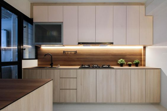 Customized Modern Concise Kitchen Cabinets Singapore. 定制现代简约厨房橱柜 新加坡 (16)