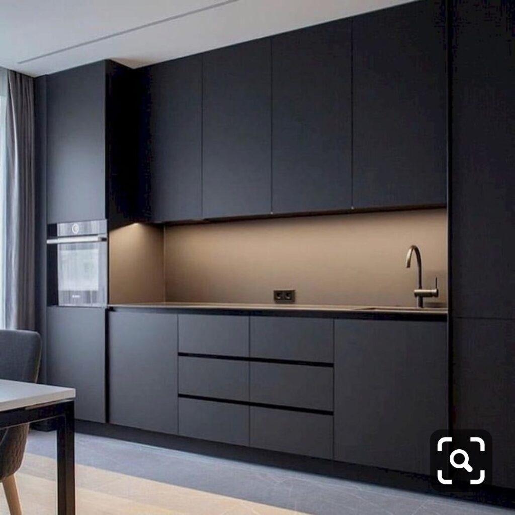 Customized Modern Concise Kitchen Cabinets Singapore. 定制现代简约厨房橱柜 新加坡 (9)