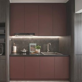 Customized Modern Concise Kitchen Cabinets Singapore