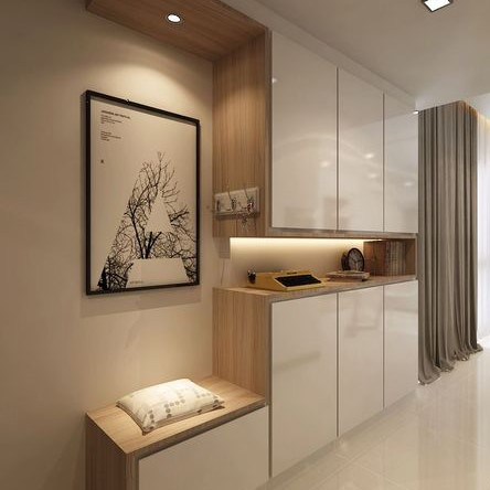 Customized Modern Concise Shoe Cabinet Singapore (1)