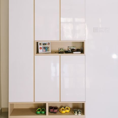 Customized Modern Concise Shoe Cabinet Singapore (11)