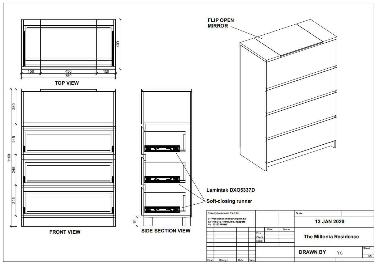 Custom Shop and Elevation Drawings