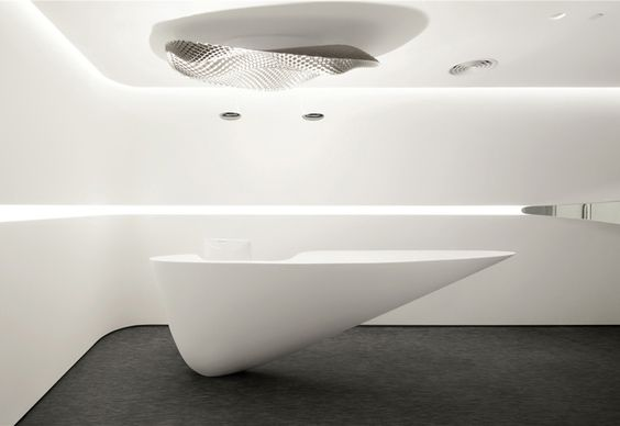 reception table floating with pu paint surface