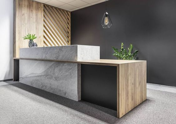 reception table with clean profile